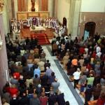 El templo parroquial estaba repleto de gente