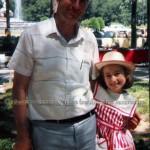 Con su padre en una de sus visitas a Puerta de Hierro