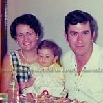Con sus padres Óscar y Mª Rosi