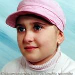Rebeca tras curar de su primera enfermedad