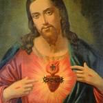 Sagrado Corazón de Jesús que Rebeca contemplaba frente a su cama