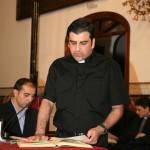 El Rvdo. D. Venancio Ruiz Nadal jura el cargo de portador de toda la documentación hasta el Vaticano