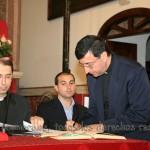 El postulador de la Causa de Rebeca tras la muerte de Mons. Ildefonso Cases, Rvdo. D. Francisco José Rayos Gutiérrez, firma también su juramento