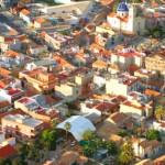 Vista aérea de Granja de Rocamora (Alicante), el pueblo de Rebeca